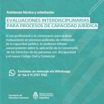 Evaluaciones interdisciplinarias para procesos de capacidad jurídica